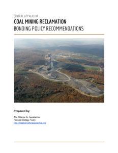 Coal Mine Bonding Report
